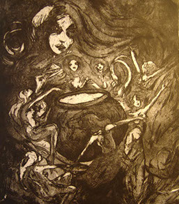 etching by Laura Tempest Zakroff