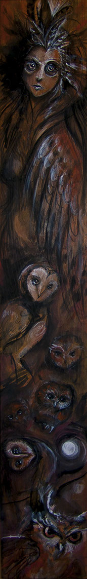 Owl Mother Painting by Laura Tempest Zakroff